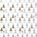 Bild 1 von Rico Design Druckstoff grafische Tanne weiß-gold 50x140cm