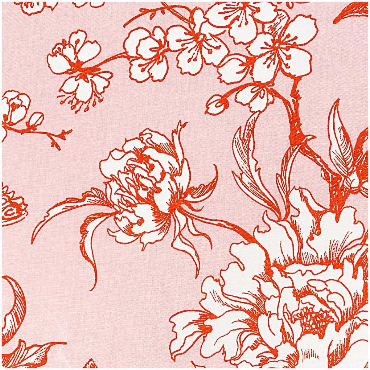 Bild 1 von Rico Design Stoff Kirschblüten puder-orange 140cm