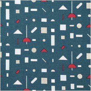 Rico Design Druckstoff grafisches Muster grün-gold 50x140cm
