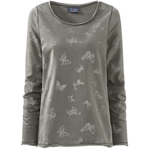 Damen Sweatshirt mit Oil-Washed-Effekt