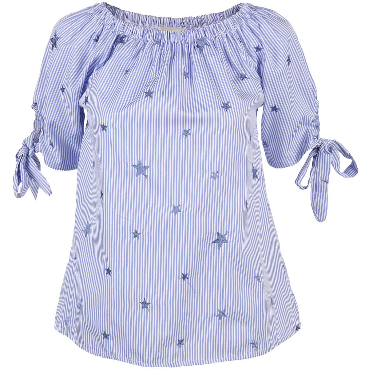 Bild 1 von Damen Carmenbluse mit aufgestickten Sternen