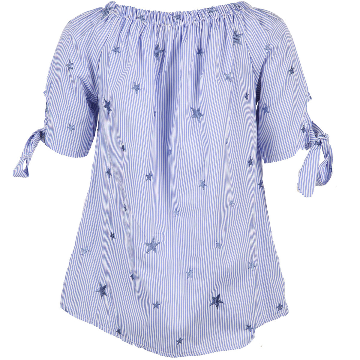 Bild 2 von Damen Carmenbluse mit aufgestickten Sternen