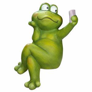 Selfie-Frosch - grün - 41 cm hoch