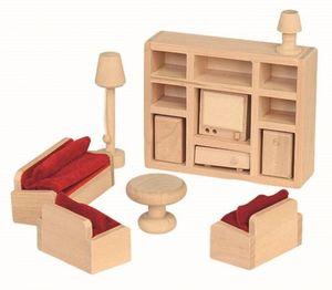 Puppenhaus Möbel - Wohnzimmer 11teilig - Holz