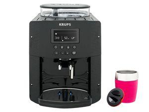 Krups Espresso-Kaffeevollautomat EA815B + Emsa TRAVEL CUP Isolierbecher Himbeer