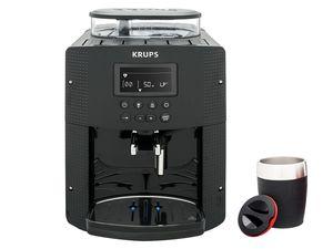 Krups Espresso-Kaffeevollautomat EA815B + Emsa TRAVEL CUP Isolierbecher Schwarz