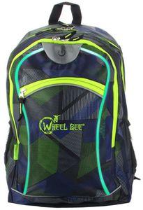 Wheel Bee Schulrucksack - Night Vision - blau-grün