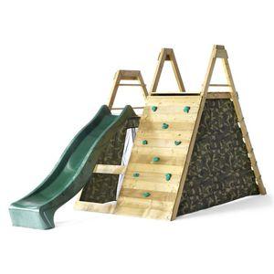 Plum - Holz-Kletterpyramide mit Spielebene und Zubehör - ca. 3,75 x 2,65 x 2,10 m