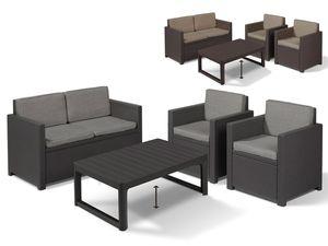 Allibert Gartenmöbel Lounge Set Victoria / Lyon Premium