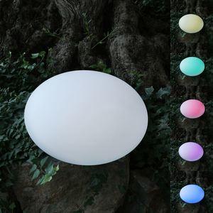 Solar-LED-Gartenleuchte Kiesel 35x23cm