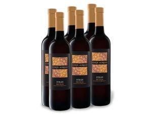 6 x 0,75-l-Flasche Weinpaket Corte Aurelio Syrah Sicilia DOP trocken, Rotwein