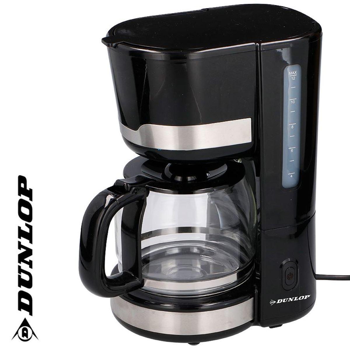 Bild 1 von Dunlop Kaffeemaschine CM1105-GS Schwarz/Edelstahl