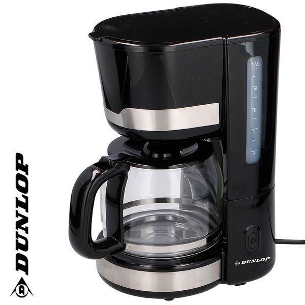 Dunlop Kaffeemaschine CM1105-GS Schwarz/Edelstahl