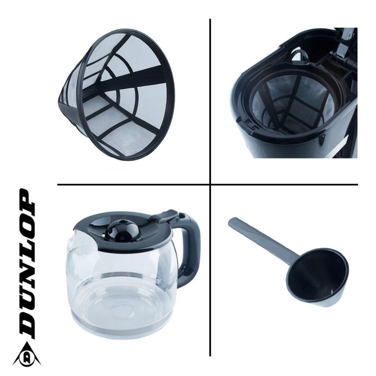 Bild 3 von Dunlop Kaffeemaschine CM1105-GS Schwarz/Edelstahl