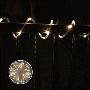 Solar-Lichterschlauch 9m 75 LEDs Warmweiß