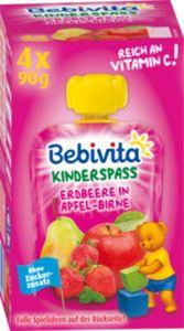 Bebivita Kinder-Spaß Erdbeere in Apfel-Birne 4x90g