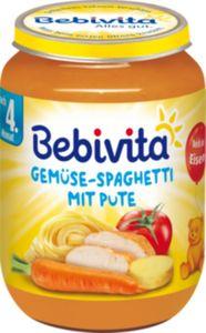 Bebivita Gemüse-Spaghetti mit Pute 190 g