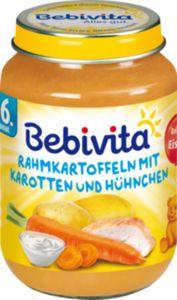 Bebivita Rahmkartoffeln mit Karotten in Hühnchen 190 g