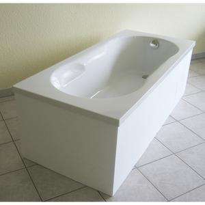 Ottofond              Badewanne 170x75 cm, weiß mit Wannenträger und Ab-⁄Überlaufgarnitur