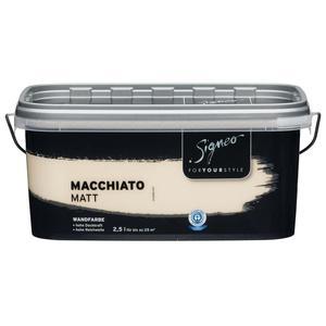 Signeo              Elegant-matte Premium Wandfarbe Macchiato, 2,5 l