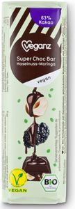 Bio Veganz Choc Bar Haselnuss-Moringa, 40 g