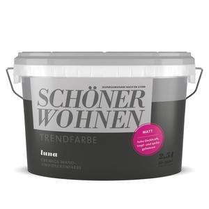 Schöner Wohnen Farbe              Trend Wandfarbe matt 2,5 Liter Luna 7502
