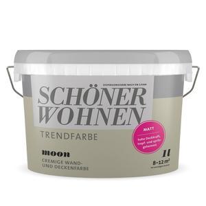 """Schöner Wohnen Farbe              Trendfarbe matt """"Moon"""""""