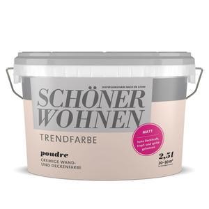 Schöner Wohnen Farbe              Trend Wandfarbe matt 2,5 Liter poudre 3513