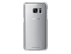 Samsung Clear Cover EF-QG930, Schutzhülle f. Samsung Galaxy S7, silber-transp.