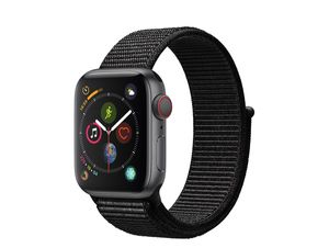 Apple Watch Series 4, GPS & Cellular, 40 mm Alu. space grau, Sport Loop schwarz