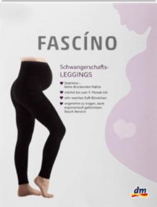 FASCÍNO Schwangerschafts-Leggings schwarz 150den, Gr. 38/40
