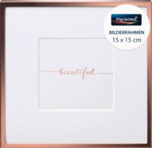Paradies Bilderrahmen Metall Quadrat 15 x 15 cm Roségold