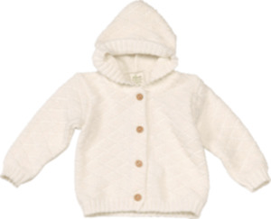 ALANA Baby-Strickjacke, Gr. 62, in Bio-Baumwolle, natur, für Mädchen und Jungen