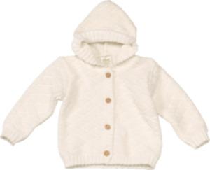 ALANA Baby-Strickjacke, Gr. 68, in Bio-Baumwolle, natur, für Mädchen und Jungen