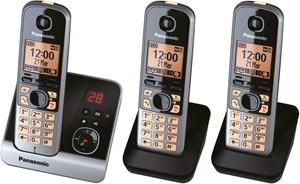 Panasonic KX-TG6723GB Schnurlostelefon mit Anrufbeantworter schwarz