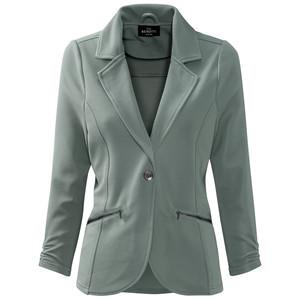 Damen Sweatblazer mit Zippertaschen