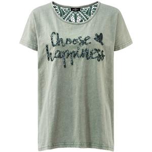 Damen T-Shirt mit Pailletten-Schriftzug