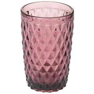 Trinkglas mit Rautenmuster