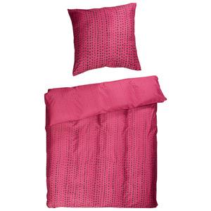 Microfaser-Bettwäsche Dots (135x200, rosa)