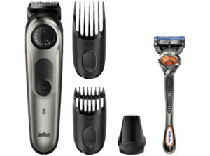 BRAUN BT5060, Barttrimmer und Haarschneider, Akkubetrieb, Schwarz/Silber