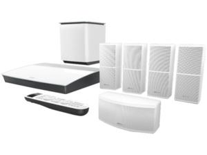 BOSE Lifestyle 600, 5.1 Heimkino-System, Bluetooth, Weiß