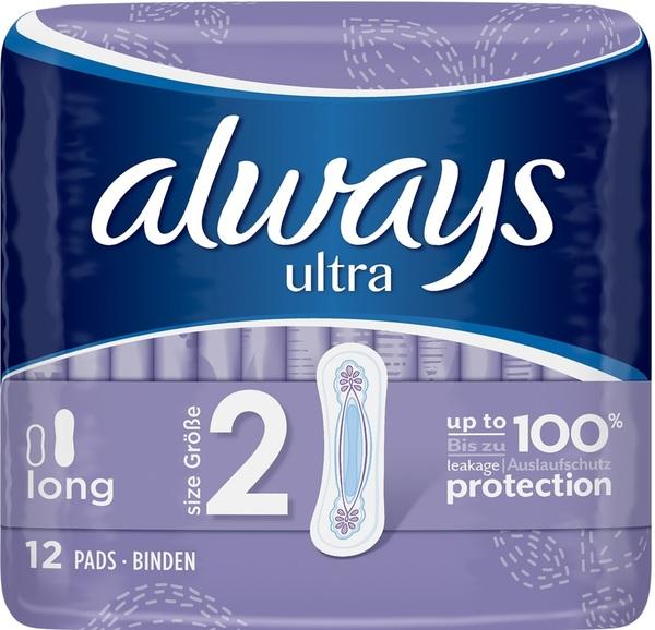 Always Binden Ultra Long Größe 2 12er Pk
