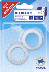 EDEKA Klebefilm 10m x 19mm 2 Stk