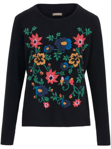 Rundhals-Pullover include mehrfarbig
