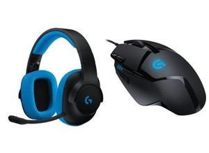 Logitech Gaming Set Headset + Maus ,  G233 + G402