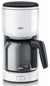 Braun Kaffeeautomat KF3120WH ,  10 Tassen, weiß