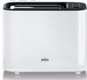 Braun Toaster HAT 3010 ,  2 Scheiben, 1000 Watt, weiß