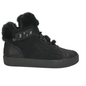 Damen High Top Sneaker, schwarz - kombiniert