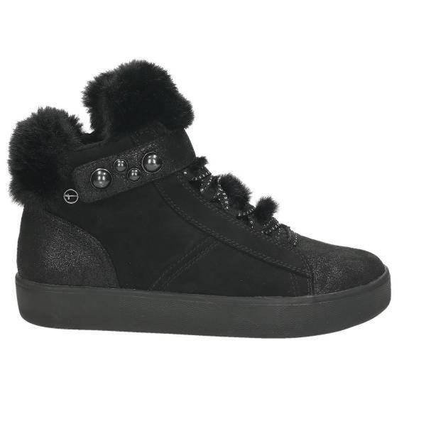 Damen High Top Sneaker, schwarz kombiniert von