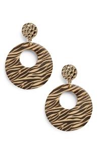 Ohrringe mit Tigermuster